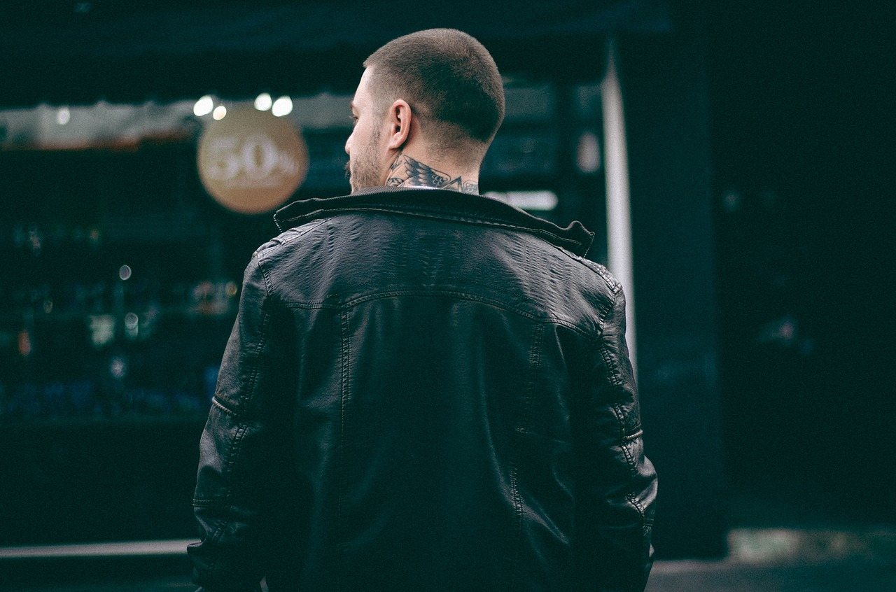 abbinamento della giacca in pelle