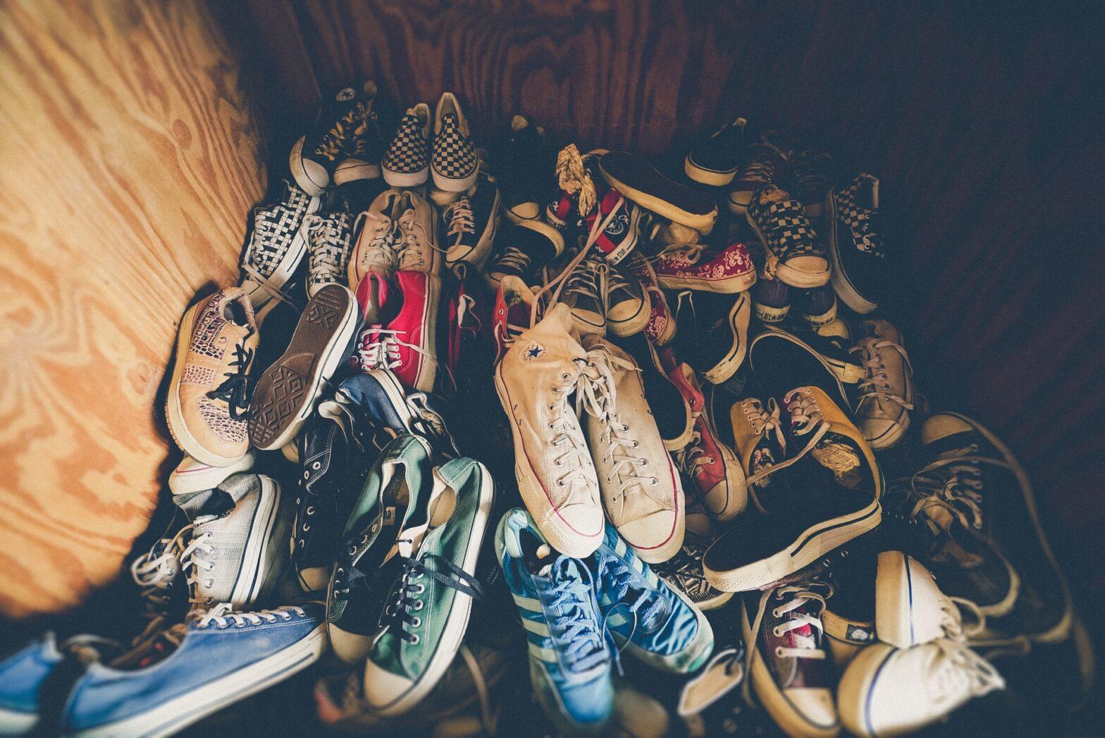 come riporre le scarpe in casa